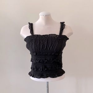 NEW Topshop frilly lace top